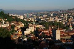 Sarajevo, vue d'horizontal Images libres de droits