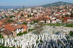 Sarajevo, vue d'horizontal Photographie stock