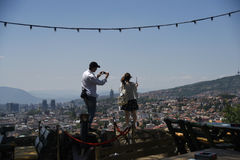 Sarajevo, vue d'horizontal Photo libre de droits