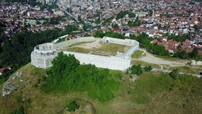 Sarajevo - The White Fortres. The White Fortress is the tower on the Dariva - Mošćanica road, on the eastern hight of Sarajevska valley. It was erected on the Stock Photography