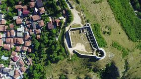 Sarajevo - The White Fortres. The White Fortress is the tower on the Dariva - Mošćanica road, on the eastern hight of Sarajevska valley. It was erected on the Stock Image