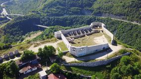 Sarajevo - The White Fortres. The White Fortress is the tower on the Dariva - Mošćanica road, on the eastern hight of Sarajevska valley. It was erected on the Stock Photos