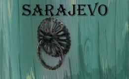 Sarajevo zvekirpajas royaltyfri illustrationer