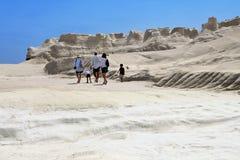 Sarakiniko area at Milos island, Greece stock photos