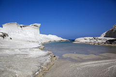 Sarakiniko beach Royalty Free Stock Image