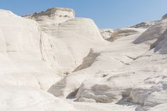 Free Sarakiniko Beach Lunar Landscape In Milos, Cyclades Islands, Aegean Sea, Greece Royalty Free Stock Photo - 121673205