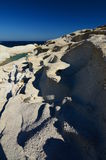 Sarakiniko beach. Milos. Cyclades islands. Greece Stock Images