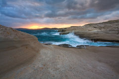 Sarakiniko beach, Milos, Greece. Stock Photo
