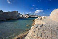 Sarakiniko beach, Milos, Greece. Royalty Free Stock Images