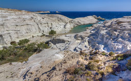 Sarakiniko beach, Milos island, Greece Stock Image