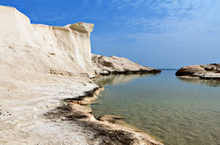 Sarakiniko beach at Milos island Stock Image
