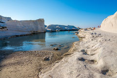Sarakiniko beach in Milos Island, Greece Royalty Free Stock Images