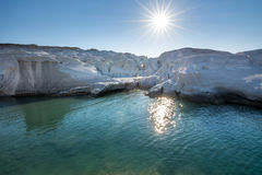 Sarakiniko beach in Milos Island, Greece stock photos