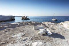 Sarakiniko beach in Milos Island, Greece Stock Images