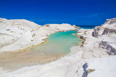 Sarakiniko beach, Milos island, greek Cyclades, Aegean, Greece, Europe Royalty Free Stock Image