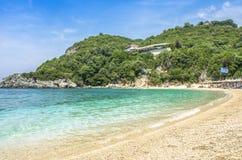 Sarakiniko Beach - Parga, Preveza, Epirus, Greece stock photo