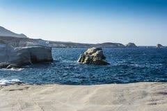 Sarakiniko beach view at the island of Milos in Greece Royalty Free Stock Images