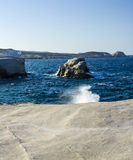Sarakiniko beach view at the island of Milos in Greece Royalty Free Stock Image