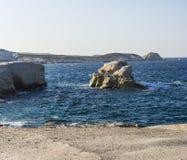 Sarakiniko beach view at the island of Milos in Greece Royalty Free Stock Photos