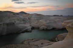 Sarakiniko beach Royalty Free Stock Photography