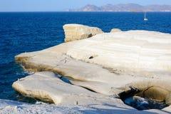 Sarakiniko Melos Greece Stock Photography