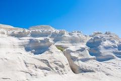 sarakiniko milos острова cyclades Греции пляжа Стоковое Изображение RF