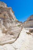 sarakiniko milos острова cyclades Греции пляжа Стоковое фото RF