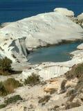 Sarakiniko, Milos, Grèce photos stock