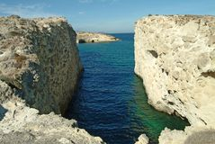 Sarakiniko, Milos, Greece Royalty Free Stock Images