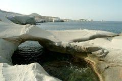 Sarakiniko, Milos, Greece Stock Images