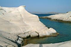 Sarakiniko, Milos, Griechenland Lizenzfreie Stockfotos