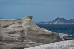 Sarakiniko moonscape - Milos, Greece Royalty Free Stock Image