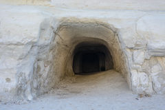 Sarakiniko tunele, Melos, Grecja Zdjęcie Stock