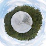 saranac панорамы озера Стоковое Изображение RF