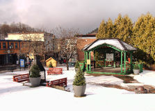 Saranac Jeziorny mały park Fotografia Stock