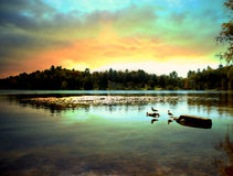 Saranac lake. In the adirondack state park, new york Stock Photos
