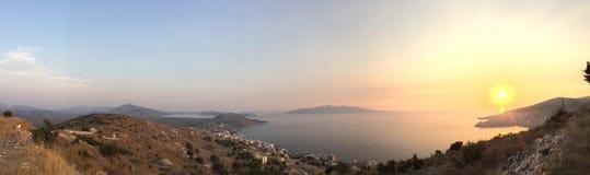 Sarandà ', Albania fotografia stock