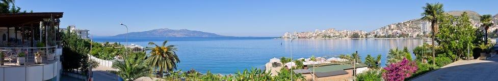 Saranda市-避暑胜地,阿尔巴尼亚 免版税库存照片