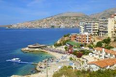 saranda панорамы Албании Стоковые Фото