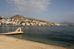 Saranda - Albanië Stock Foto