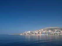 Saranda, Albanië van het overzees Royalty-vrije Stock Afbeeldingen