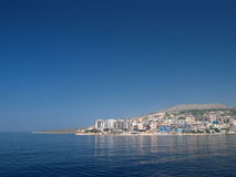 Saranda, Albania dal mare Immagini Stock Libere da Diritti