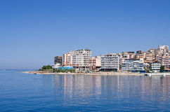 Saranda city - summer resort, Albania Stock Images
