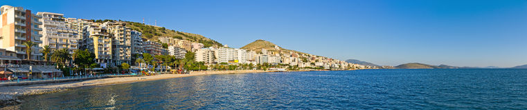 Saranda city - summer resort, Albania Royalty Free Stock Images