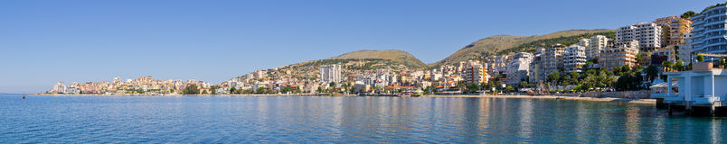 Saranda city - summer resort, Albania Royalty Free Stock Photo