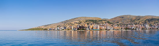 Saranda city - summer resort, Albania Stock Photography