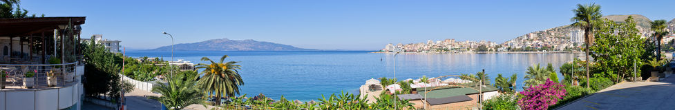 Saranda city - summer resort, Albania Royalty Free Stock Photos