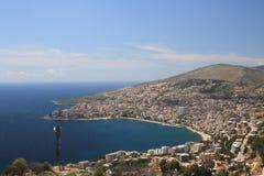 Saranda en Albanie Images libres de droits