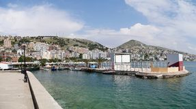 Saranda hamn, Albanien Arkivfoto