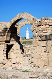 Saranda Kolones,塞浦路斯 免版税库存图片